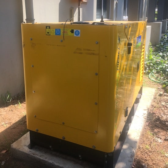 16kVA powering an office